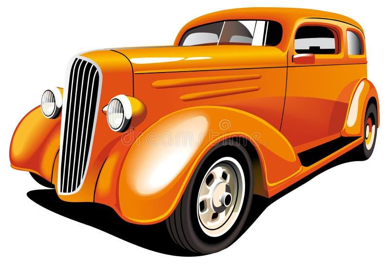 Rod chaud orange illustration stock