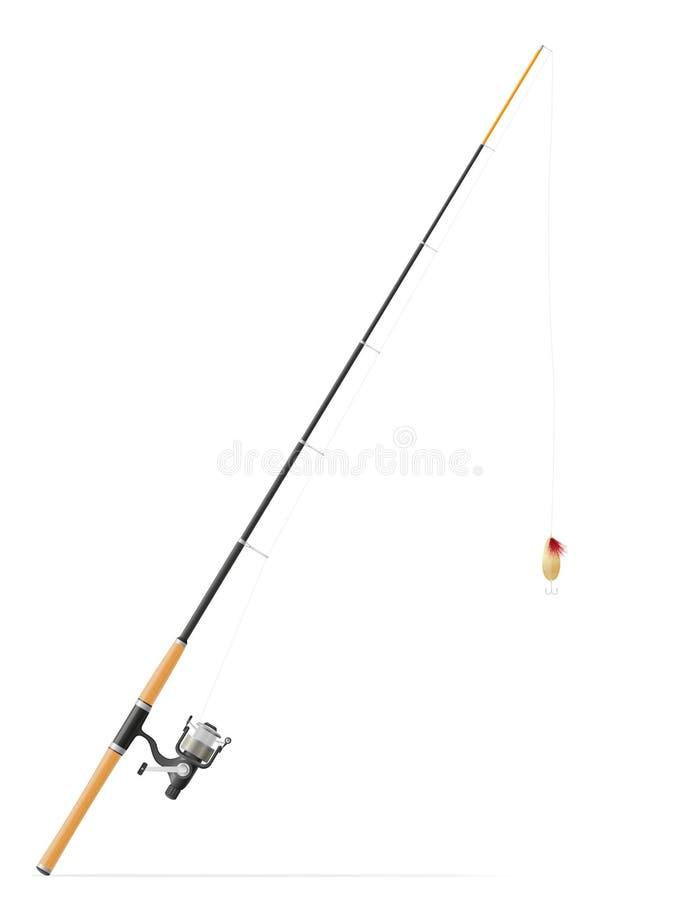 Rod che fila per la pesca dell'illustrazione di vettore illustrazione di stock