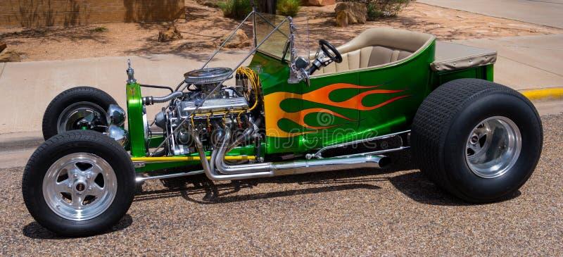 Rod Green Yellow Flames chaud photo libre de droits
