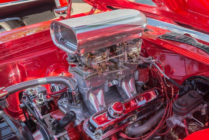 Rod Motor quente cromado costume fotos de stock royalty free
