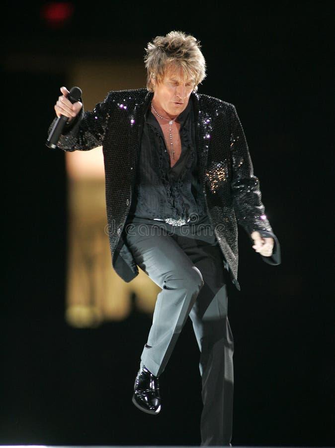 Rod Stewart executa no concerto foto de stock royalty free