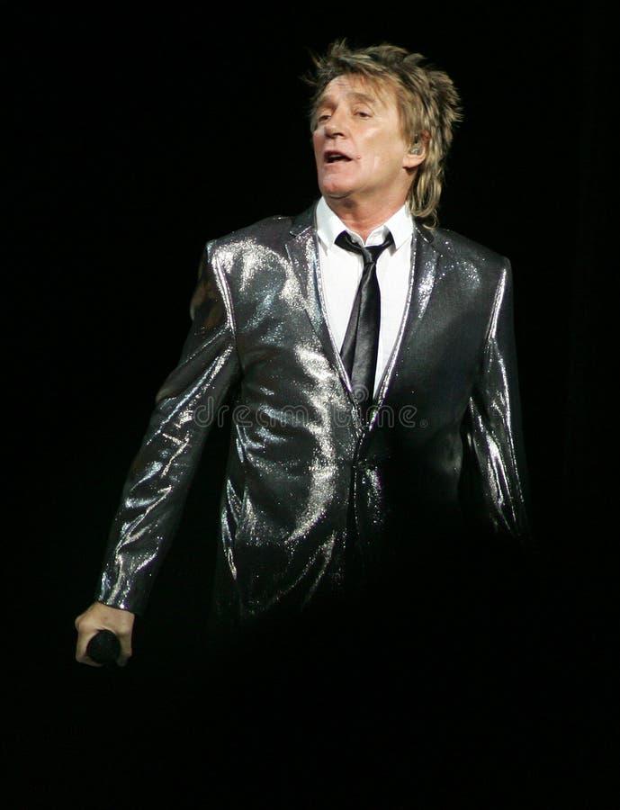 Rod Stewart executa no concerto imagens de stock royalty free