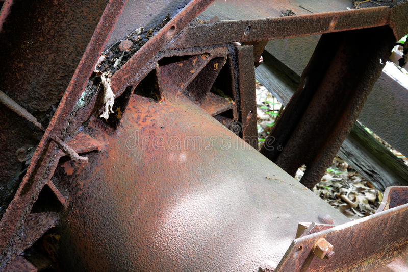 Roda abandonada da plataforma petrolífera imagens de stock royalty free