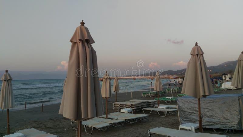 Roda beach at sunset stock photos