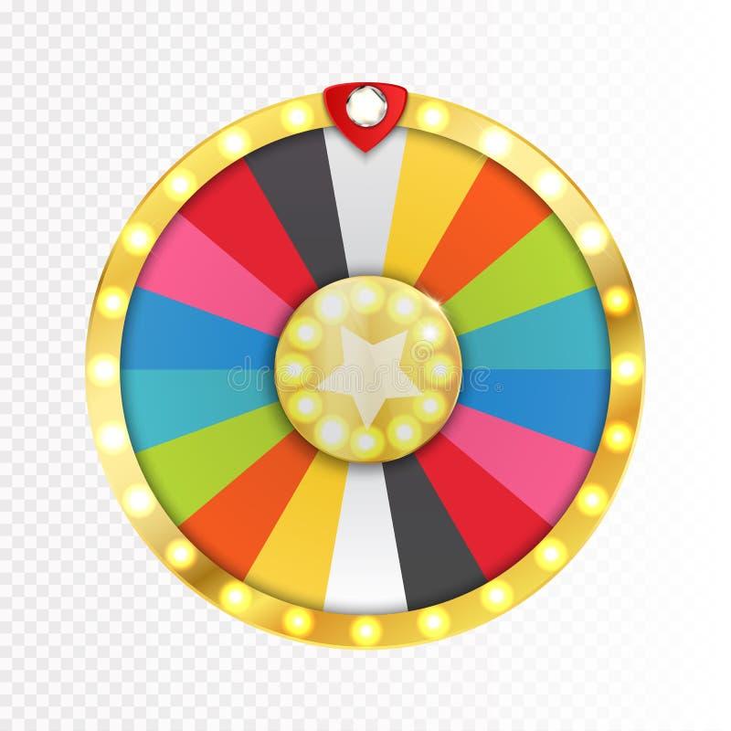 Roda colorida da sorte ou da fortuna infographic Vetor ilustração stock