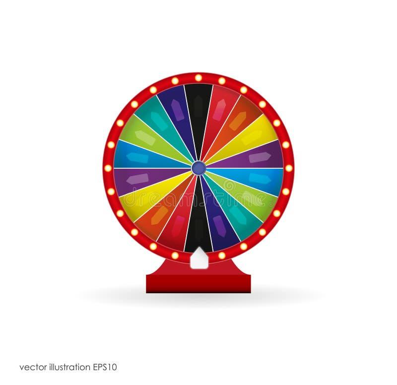 Roda colorida da sorte ou da fortuna infographic Ilustração do vetor ilustração stock