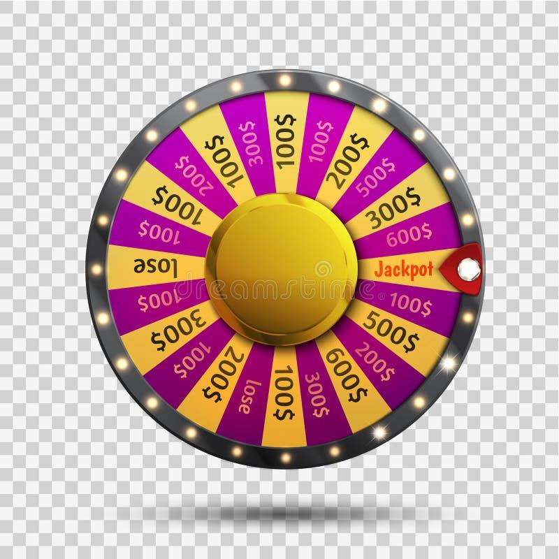 Roda colorida da sorte ou da fortuna infographic Vetor ilustração royalty free
