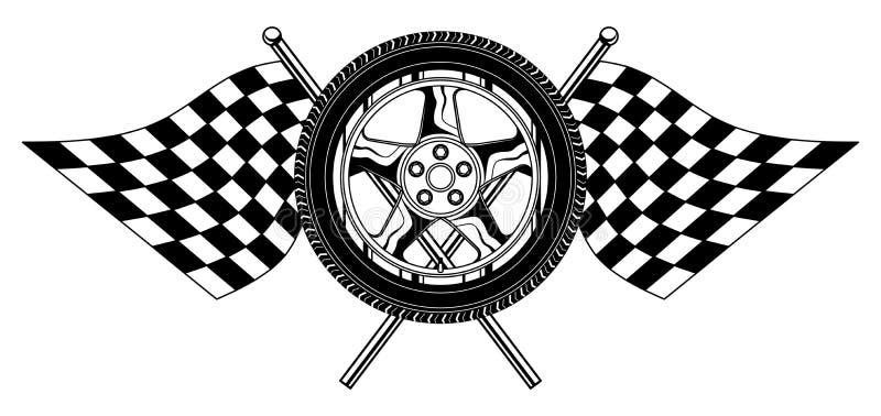 Roda com bandeiras ilustração stock