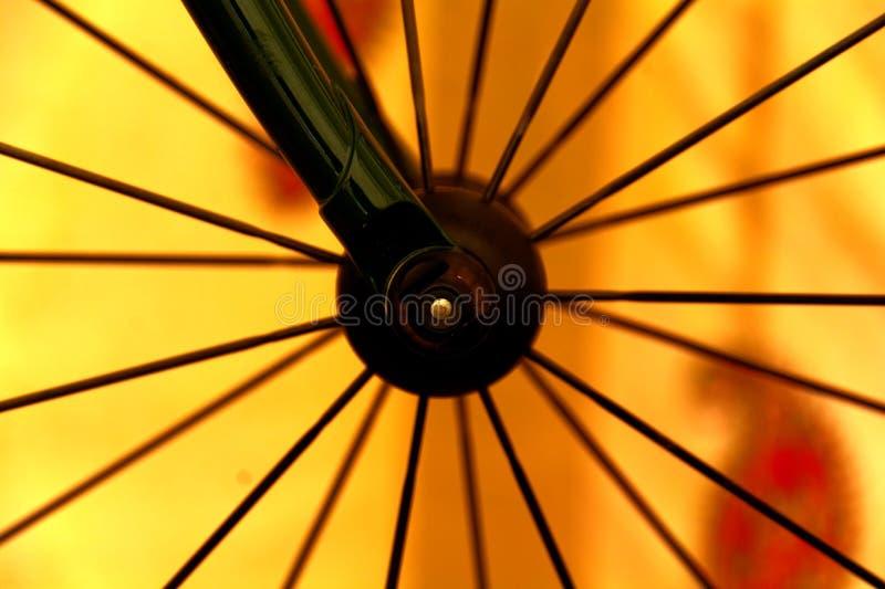 Roda da bicicleta foto de stock