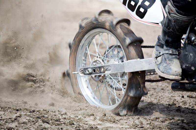Roda da bicicleta da sujeira imagens de stock