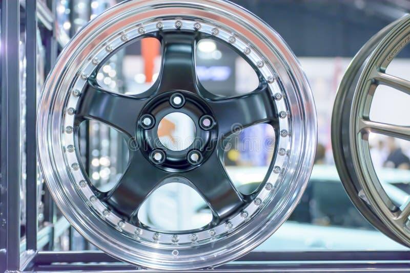 Roda da roda ou do mag da liga do magnésio ou rodas máximas do carro fotografia de stock