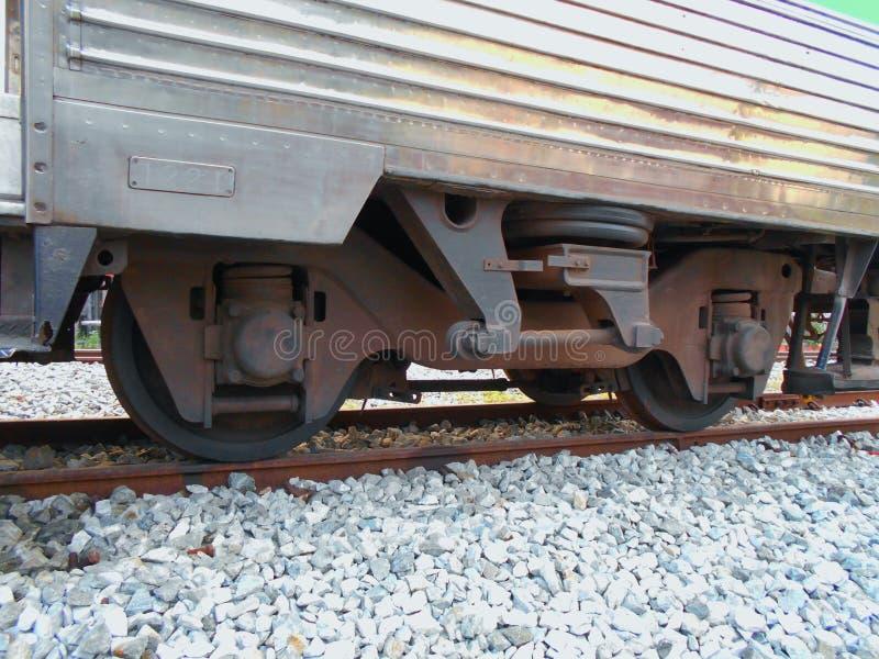 Roda da suspensão do trem e da estrada de ferro fotografia de stock royalty free