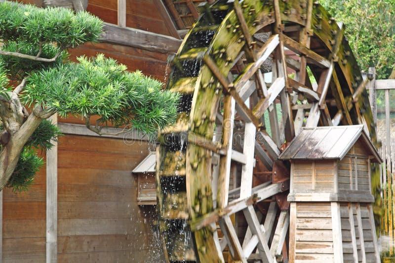 Roda de água no moinho velho da munição fotografia de stock royalty free