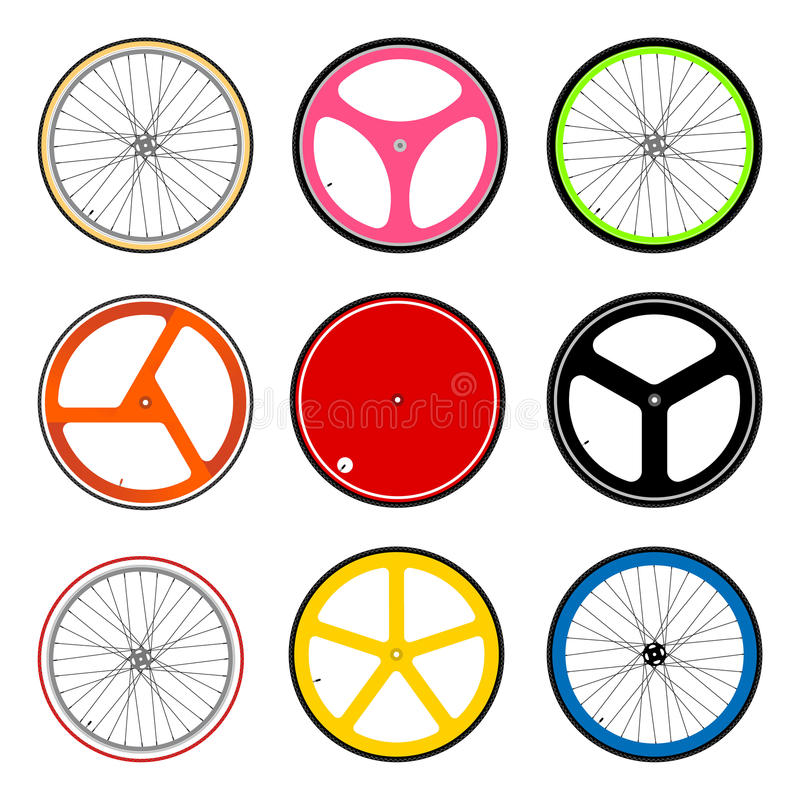 Roda de bicicleta ilustração royalty free
