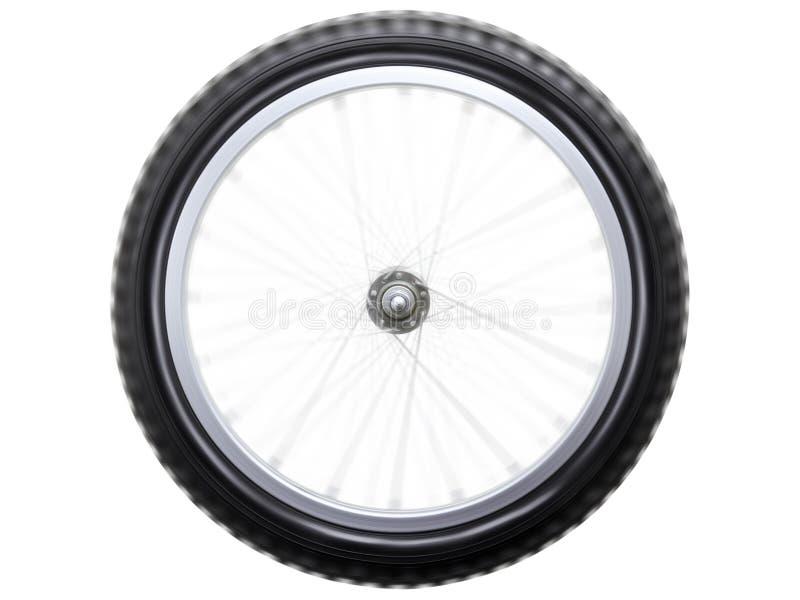Roda de bicicleta de giro foto de stock