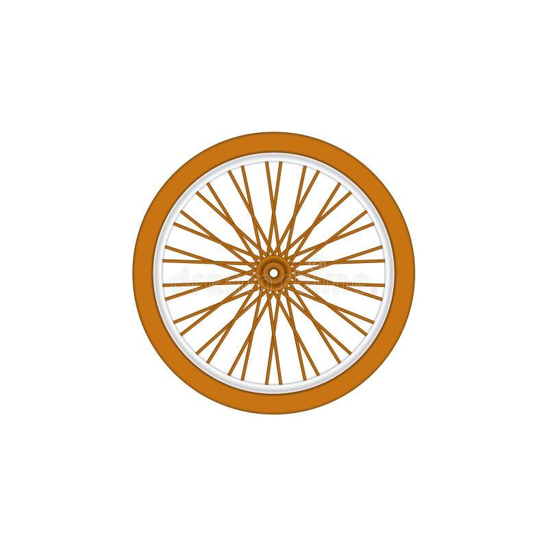 Roda de bicicleta de madeira ilustração do vetor