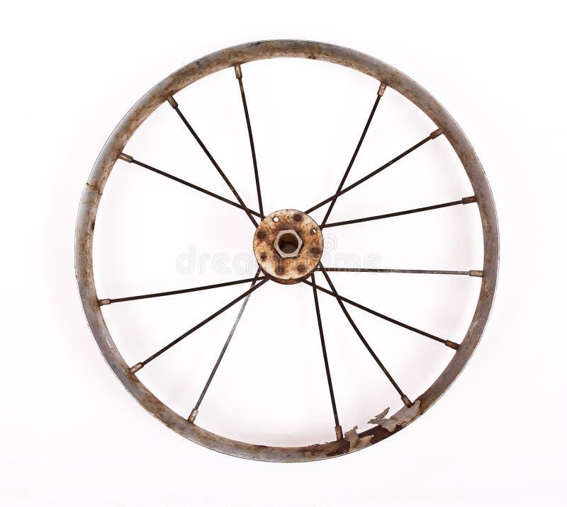 Roda de bicicleta velha imagens de stock