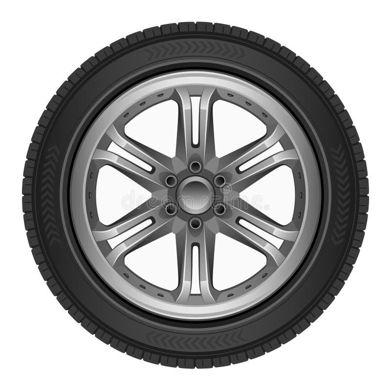 Roda de carro ilustração do vetor