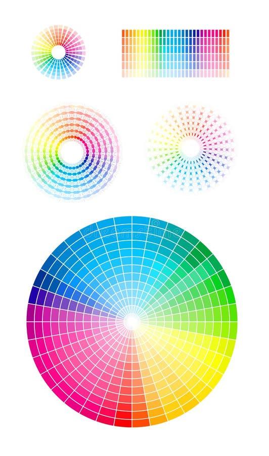 Roda de cor ilustração do vetor
