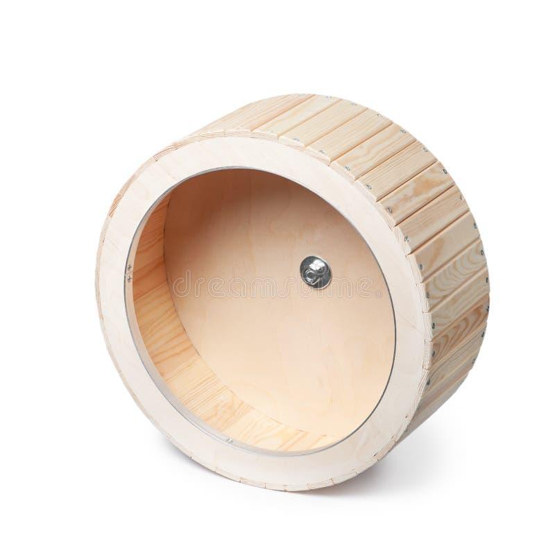Roda de corrida de madeira vazia para roedores fotos de stock royalty free