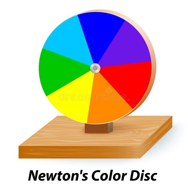 Roda de disco da cor dos newtons ilustração do vetor