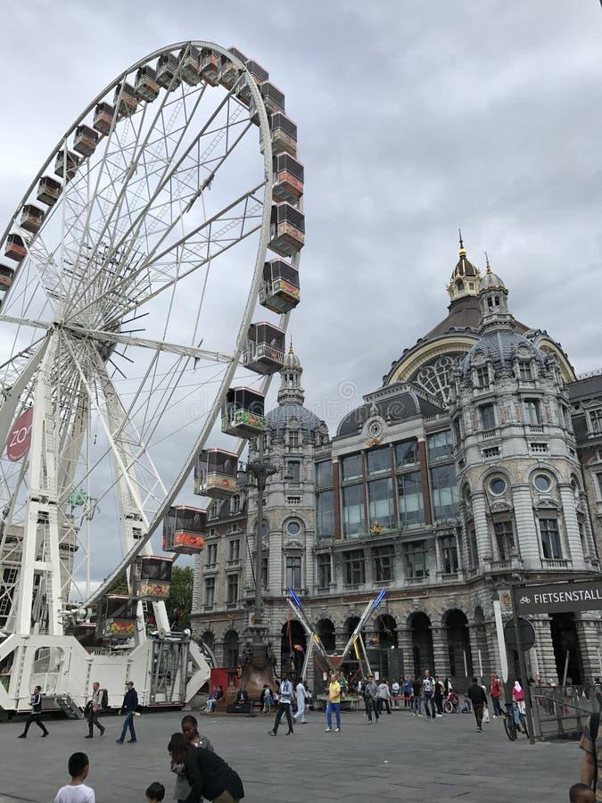 Roda de ferris de Antuérpia imagem de stock royalty free