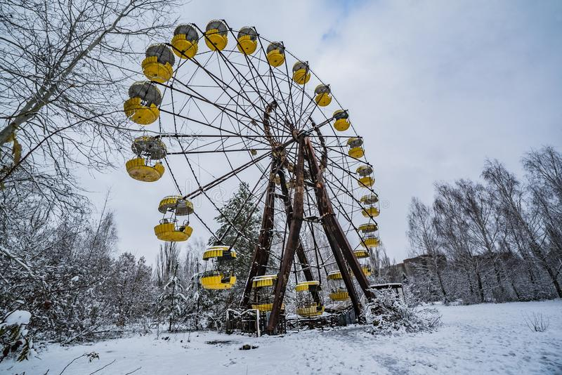 Roda de ferris de Chernobyl imagens de stock