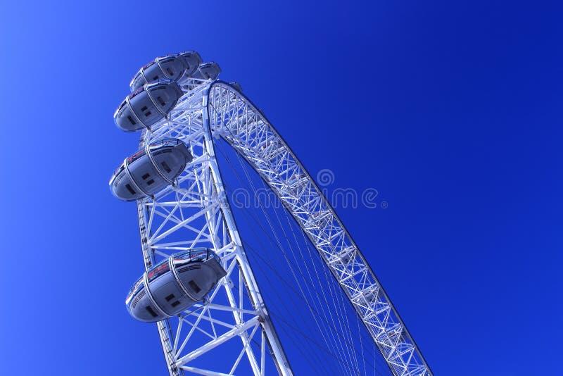 A roda de Ferris do olho de Londres imagens de stock