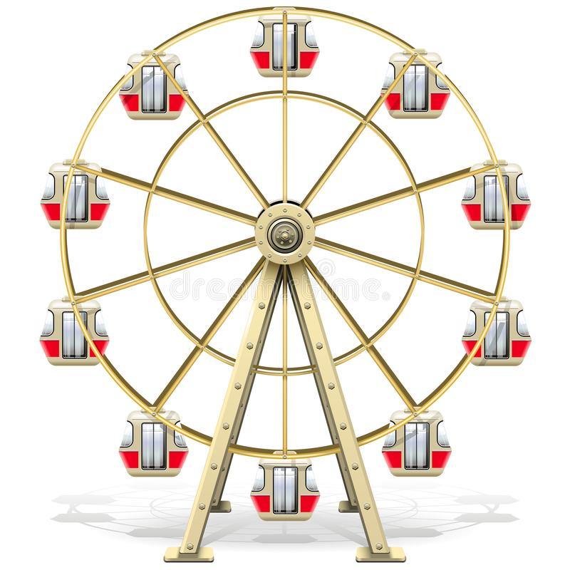 Roda de ferris do vetor ilustração royalty free