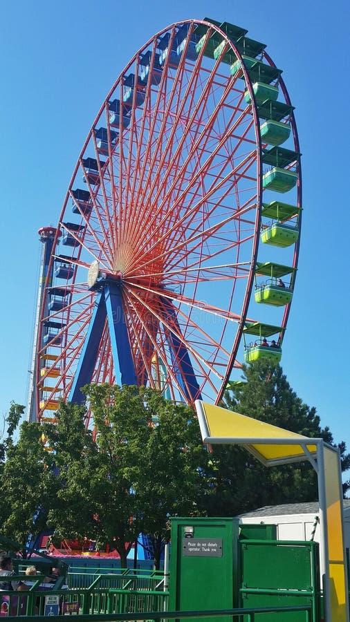Roda de Ferris em Cedar Point, Ohio foto de stock