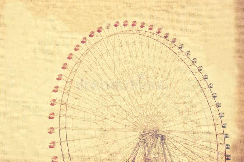 Roda de ferris gigante do Grunge fotografia de stock