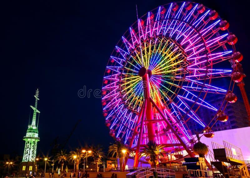 Roda de Ferris no porto de Kobe fotografia de stock