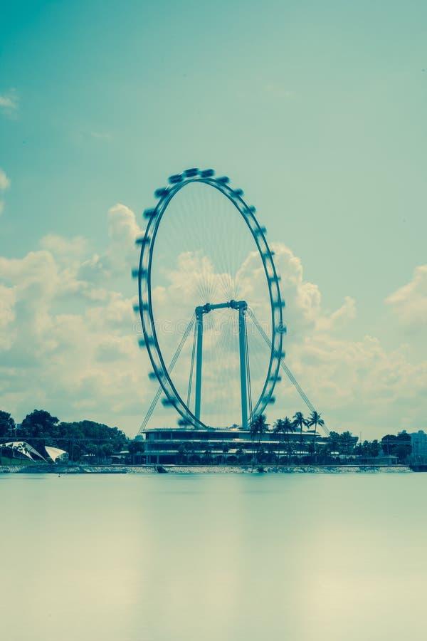 Roda de Ferris: O insecto de Singapore imagem de stock