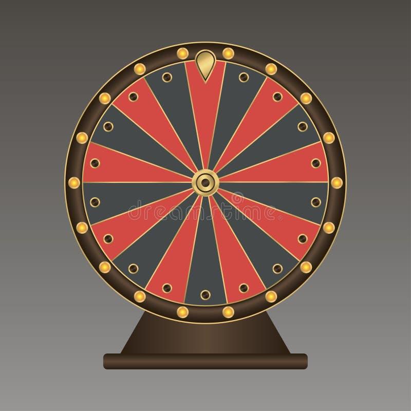 Roda de fortuna Molde realístico Vetor ilustração stock
