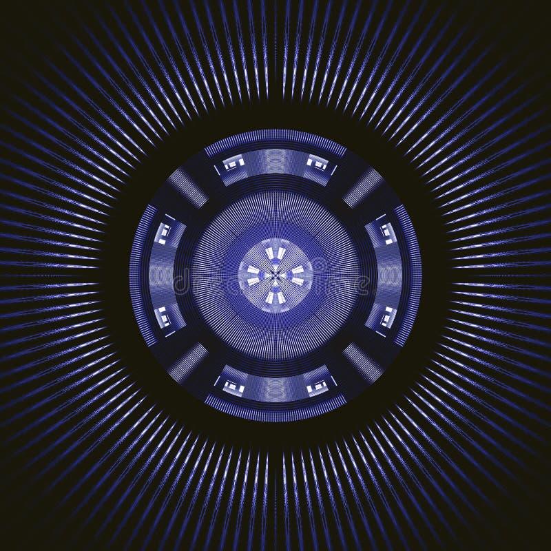 Roda de giro azul de Techno ilustração stock