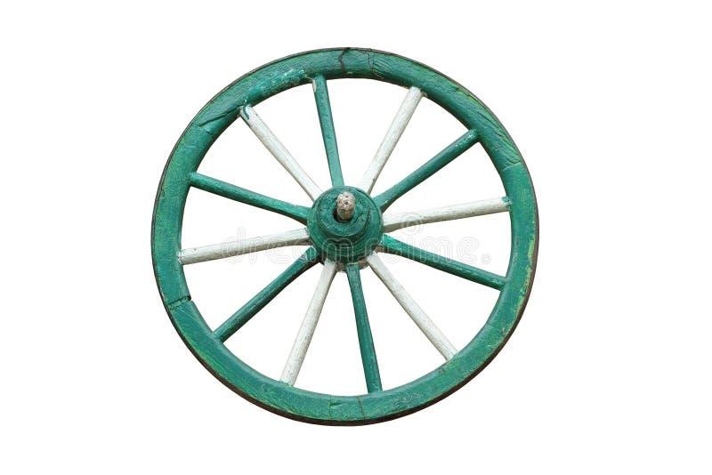 Roda de madeira do carro tradicional imagem de stock royalty free