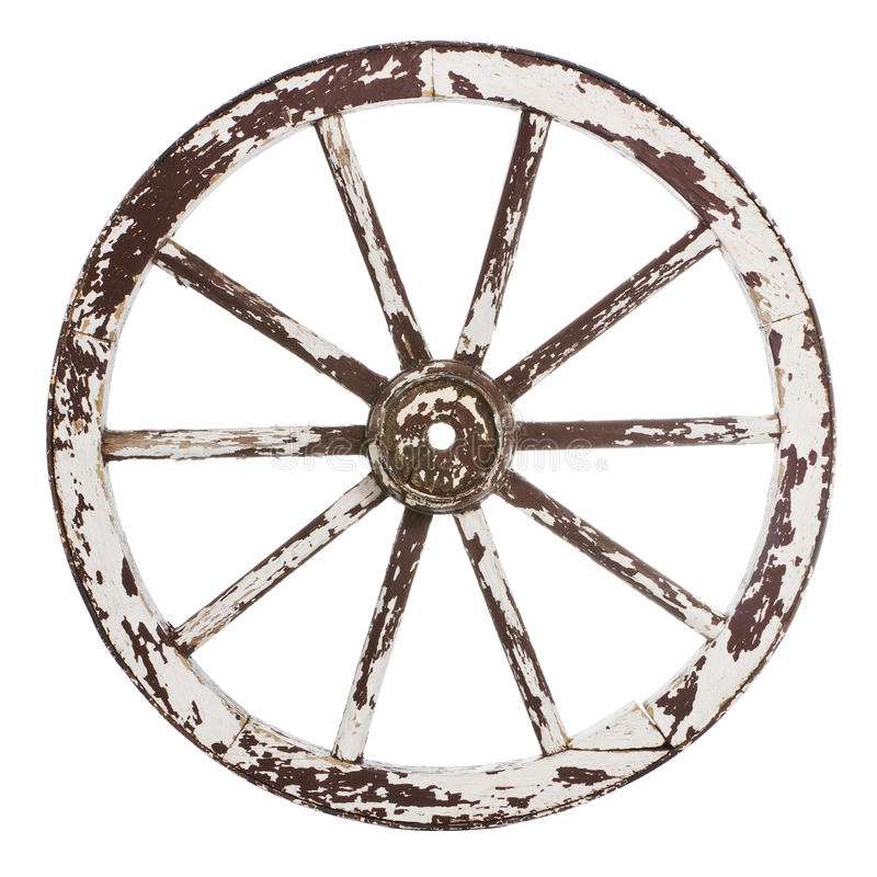 Roda velha do carro imagens de stock