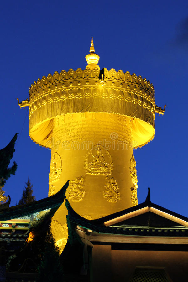 Roda de oração tibetana imagem de stock