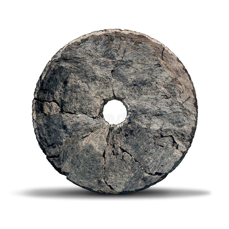Roda de pedra ilustração royalty free
