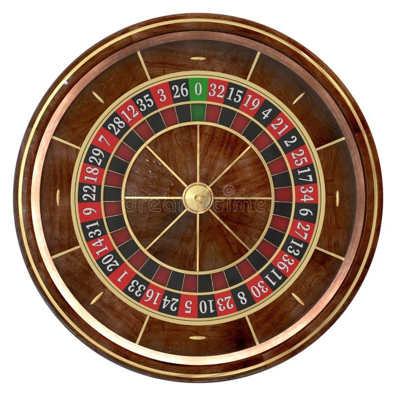 Roda de roleta 3D do casino ilustração stock