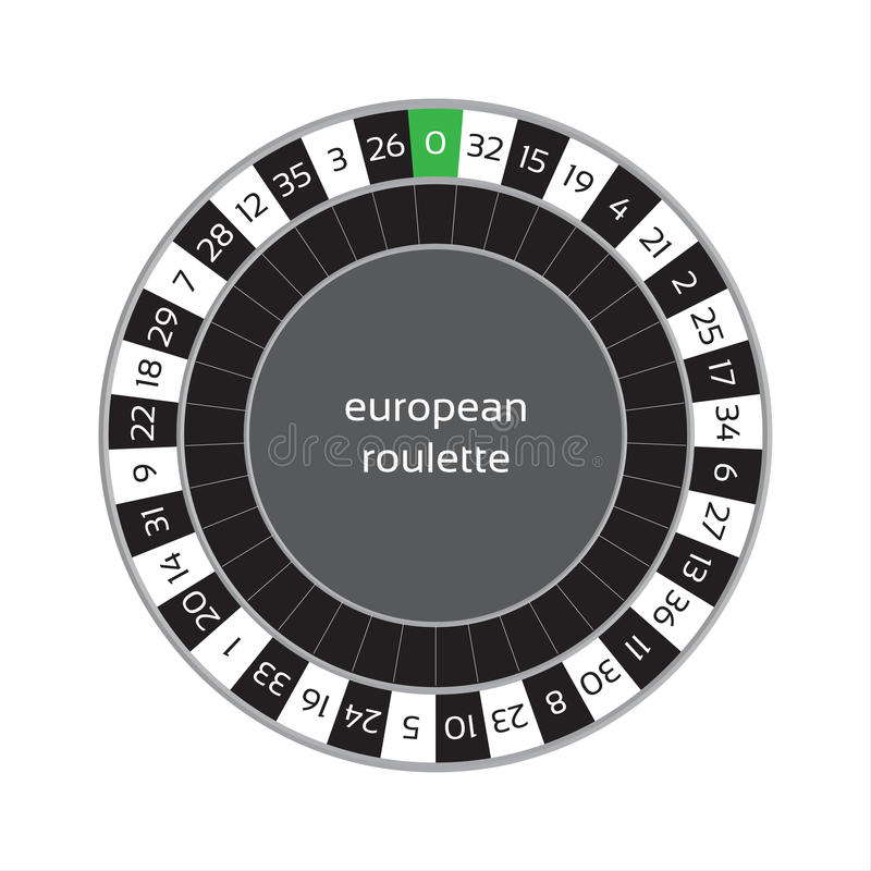 Roda de roleta de EEuropean isolada no fundo branco ilustração royalty free