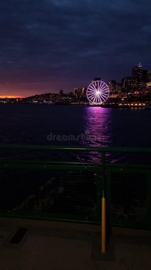 Roda de Seattle Ferris fotografia de stock