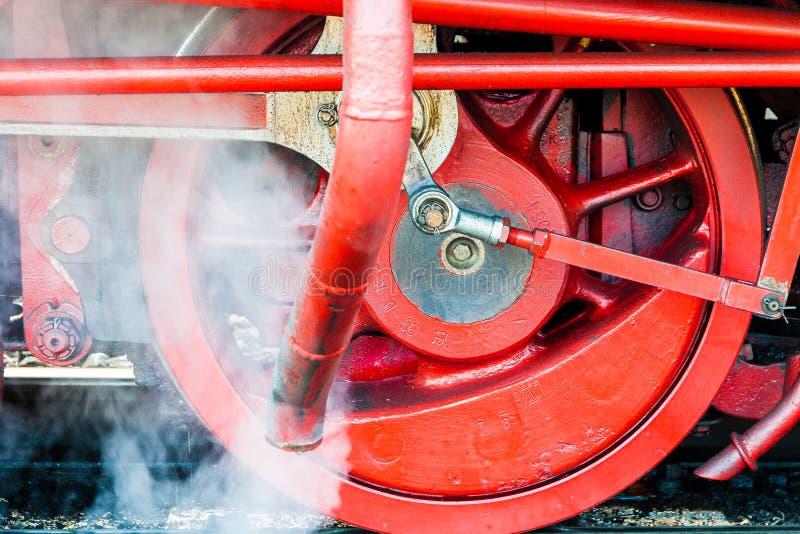 Roda de uma locomotiva de vapor imagem de stock royalty free