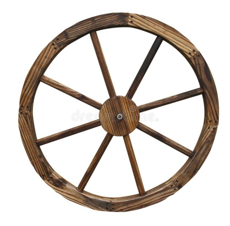 Roda de vagão isolada imagens de stock royalty free
