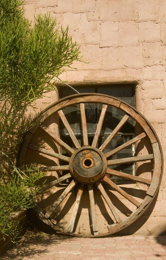 Roda de vagão ocidental selvagem foto de stock
