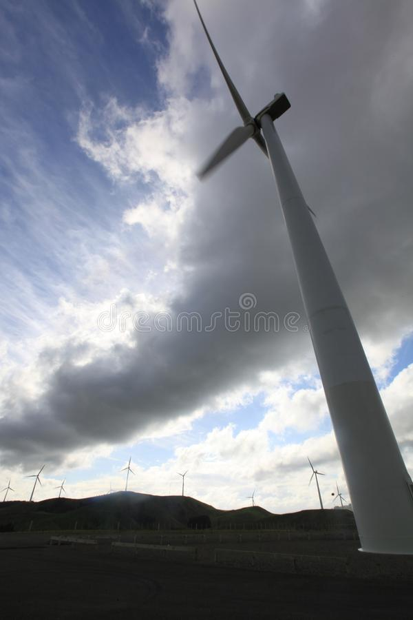 roda de vento grande imagem de stock