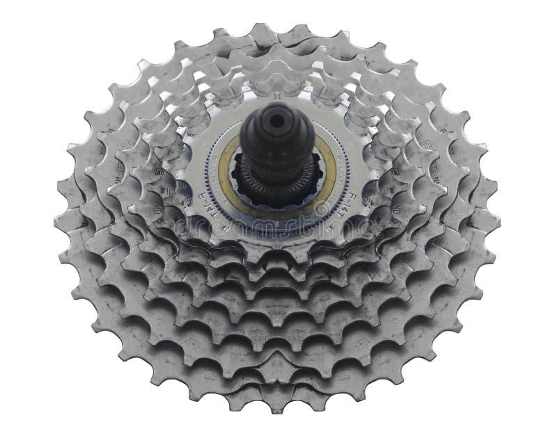Roda dentada da bicicleta imagem de stock
