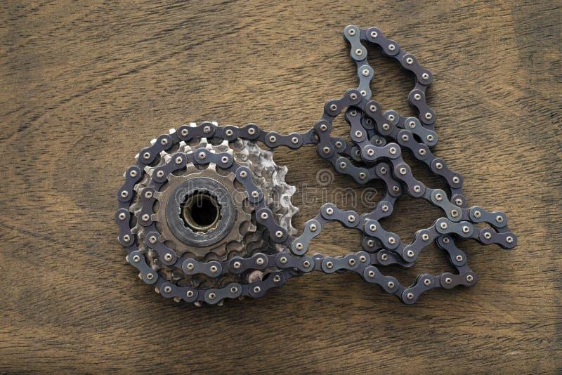 Roda denteada da engrenagem da bicicleta imagem de stock