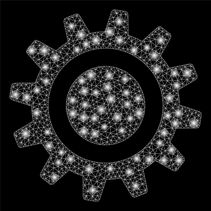 Roda denteada da malha do alargamento 2D com pontos do alargamento ilustração royalty free