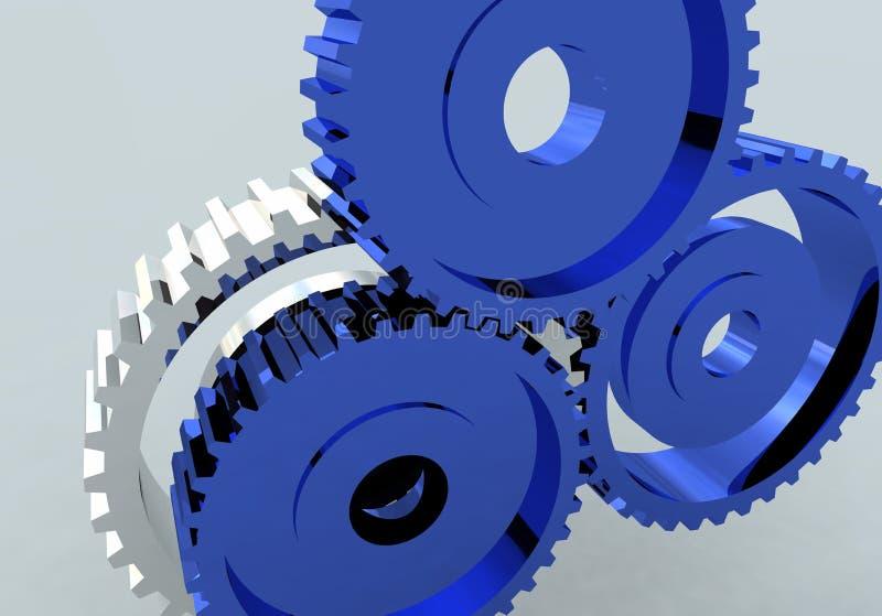 Roda denteada da roda de engrenagem ilustração stock